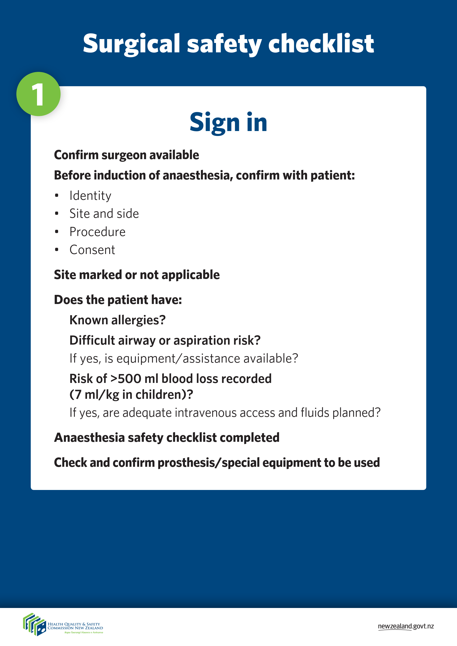 surgical safety checklist posters Jun 2015 2